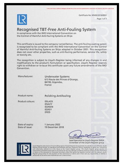 Les Certificats TBT-Free